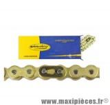 Chaine cyclomoteur renforcée or 415 116 maillons pour: peugeot 103, mbk 51, ect...