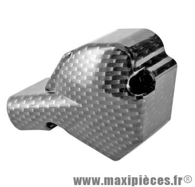 Cache pompe a huile imitation carbone pour 50 a boite minarelli am6