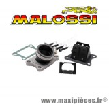 Boite a clapet malossi mhr d26à28 x360 pipe en viton et clapet carbone pour minarelli am6 et moteur derbi 50 a boite euro2 euro3