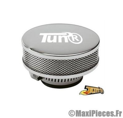 filtre a air adaptable diametre 28/35 cylindrique extra plat droit chrome
