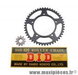 Déstockage ! Kit chaine did pour aprilia rs 1999 à 2005 et Tuono 420 11x47 (demultiplication origine)