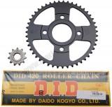 Déstockage ! Kit chaine did pour mbk x-power/tzr50 2003 à 2007 420 11x47 (demultiplication origine)