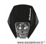 Tête de fourche plaque phare exura Polisport noir pour moto 50 à boite