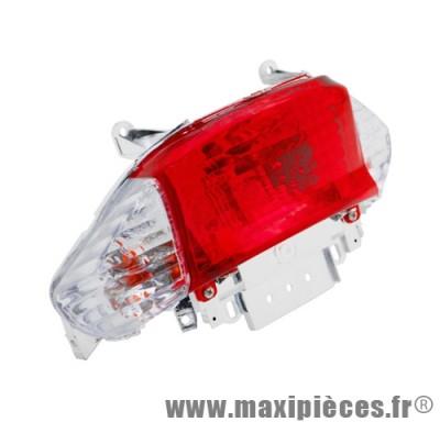 Feu arrière transparent adaptable origine pour scooter 4t  Peugeot v-clic chinois qt3 Baotian BT49QT Sym Orbit…