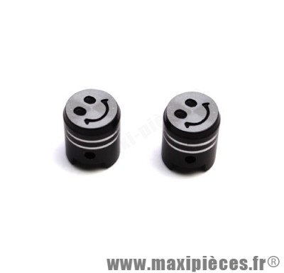 Prix discount ! Bouchon de valve en forme de piston noir (paire)