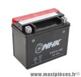 batterie 12v /10ah (ytx12-bs) sans entretien pour piaggio 125 hexagon lx4/250 x9 - kymco 250 xciting - aprilia 500 atlantic... (dimension: lg150xl87xh130)