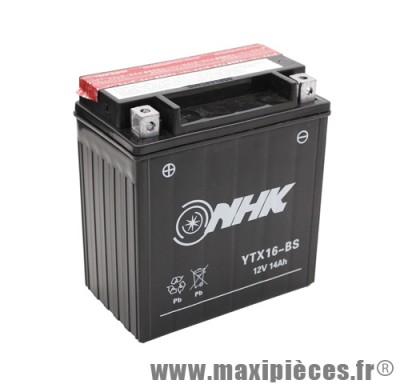 batterie 12v /14ah (ytx16-bs) sans entretien pour piaggio 400 mp3... (dimension: lg150xl87xh161)