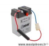 batterie 6v / 2ah (6n2a-2c)(vendu sans acide) pour dax... (dimension: lg68xl45xh104)