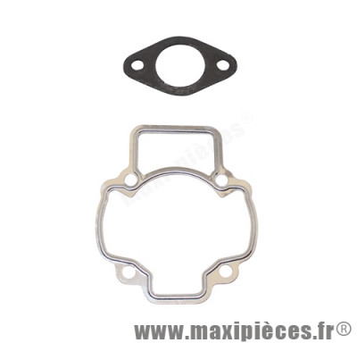joint kit haut moteur de scooter adaptable pour : piaggio typhoon fly liberty nrg sfera vespa zip gilera ice storm tph stalker italjet derbi aprilia ...(2 joints embase cylindre + echappement)