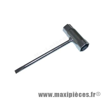 clé a bougie tournevis 17mm + 21mm pour moto/50 à boite/scooter/maxi scooter/mobylette ...