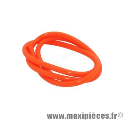 durite d'essence 5mm orange fluo diametre extensible (interieur 5mm par 8mm exterieur/vendu par 1 metres)