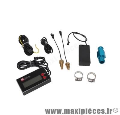 Compte tour digital universel Replay Tnt moto scooter mécaboite (trs/min+température+horloge)