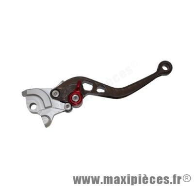 levier de frein de scooter race pour nitro/aerox droite gris/silver