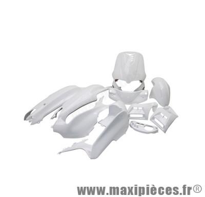 Kit carrosserie carénage blanc pour gilera runner (12 pièces) de 1997 à 2005
