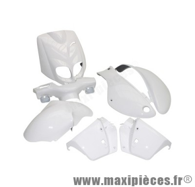Kit carrosserie carénage blanc pour peugeot trekker apres 2006 tkr (7 pièces)