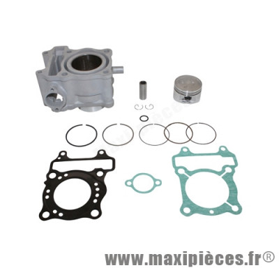 Kit cylindre maxi scooter airsal alu pour honda 125 phantheon 4t-s wing 4t- sh/ keeway 125 oulook 4t (qj153mj-2)/ malaguti 125 blog 4t
