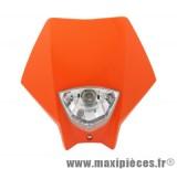 Tête de fourche plaque phare orange pour moto 50 à boite