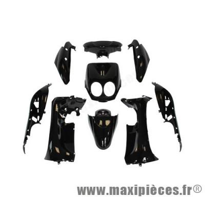 Kit carrosserie carénage noir pour mbk ovetto yamaha neo's a partir de 2008 (9 pièces)