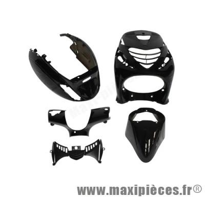 Kit carrosserie carénage noir brillant pour piaggio zip sp 50cc (4 pièces)