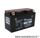 Batterie 12v / 6,5ah yuasa yt7b-bs sans entretien pour maxiscooter et moto yamaha (lg150xl65xh93)