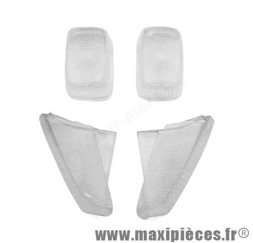 cabochon de clignotant blanc avant et arriere pour booster <1998 (4 pieces)