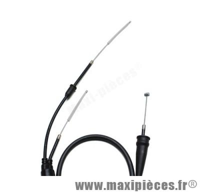 transmission de gaz / cable d'accelerateur de 50 a boite pour mbk x-limit (a partir de 2004 et apres)/dt50r (a partir de 2004 et apres)