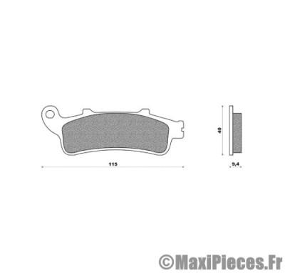 plaquettes de freins pour 125/150 honda pantheon 400 silver wing ...