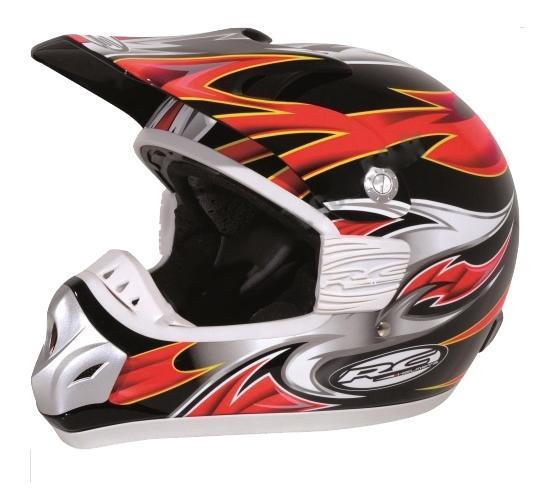 destockage casque moto cross rc assault rouge noir jaune taille l 59 60 ebay. Black Bedroom Furniture Sets. Home Design Ideas