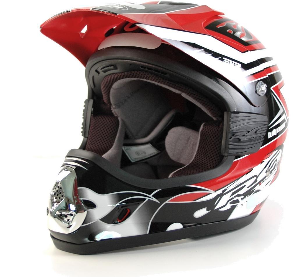 destockage casque moto cross rc fullpower rouge noir. Black Bedroom Furniture Sets. Home Design Ideas