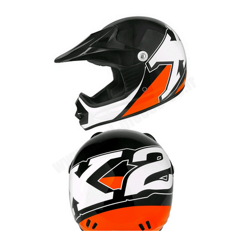 casque moto cross enfant orange et noir taille 52 l ebay. Black Bedroom Furniture Sets. Home Design Ideas