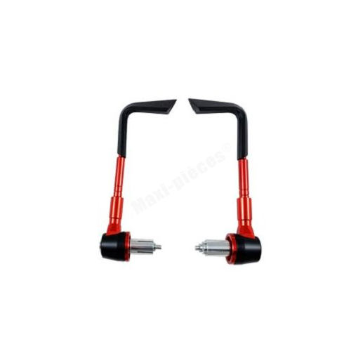 prot ge main style moto gp universel rouge alu moto 50 a boite scooter 17 ebay. Black Bedroom Furniture Sets. Home Design Ideas