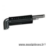 Jeu de 9 clé allen de 1,5 à 10mm (1,5 - 2 - 2,5 - 3 - 4 - 5 - 6 - 8 - 10) *Déstockage !