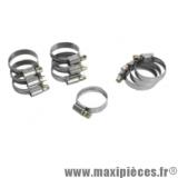 Collier de serrage inox 23x35mm (sachet de 10) pour Scooter, Mécaboite, Mobylette, Maxi Scooter, Moto, Quad *Déstockage !