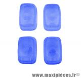 Déstockage ! Kit cabochons Clignotants bleu AV/AR  pour mbk stunt yamaha slider