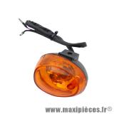 Clignotant avant gauche orange (homologué CE) pour scooter chinois gy6 50cc 139qmb, qt9 * Déstockage !