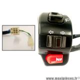 Commodo gauche pour scooter chinois baotian BT49QT-17F1 et autre (Lumière code/phare, clignotant, klaxon, fixation rétroviseur) *Déstockage !