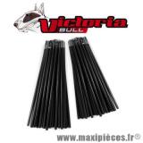déstockage ! Kit Couvre rayons 76 pièces couleur noir pour roue avant et arrière Victoria Bull