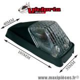 Feu arrière Victoria Bull universel type HONDA XR Noir / Transparent *Déstockage !
