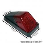 Feu arrière Victoria Bull universel type HONDA XR Noir / Rouge *Déstockage !