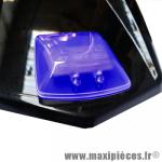 Feu stop a led universel bleu bcd 2 led rouge puissante avec fixation autocollant puissant (fixation sur aileron et partie planes) *Déstockage !