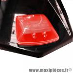 Feu stop a led universel rouge bcd 2 led rouge puissante avec fixation autocolant puissant (fixation sur aileron et partie planes) *Déstockage !
