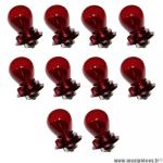 Ampoules/lampes 12v 15w rouge culot P26S (boite de 10) *Déstockage !