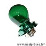 Ampoule/lampe 12v 15w vert culot P26S *Déstockage !