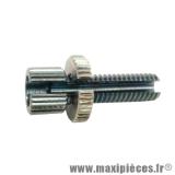 Déstockage ! Vis creuse tendeur de câble pour cyclomoteur M6x100 fendue pour gaine 6mm percée a 2,3mm
