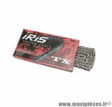 Chaine iris 428 TX standard noir 122 maillons pour cyclomoteur et moto