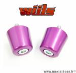 Embouts de guidon M8x125 Violet Wiils *Déstockage !