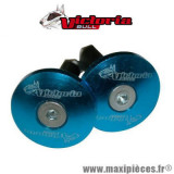 Embouts de guidon plat diamètre 14mm bleu Victoria Bull *Déstockage !