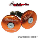 Embouts de guidon plat diamètre 12mm orange Victoria Bull *Déstockage !