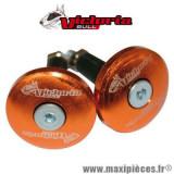 Embouts de guidon plat diamètre 12mm orange Victoria Bull *Déstockage !