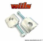 Paire de pontets de guidon réversible WIILS diamètre 22.2mm *Déstockage !